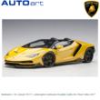 Modelauto 1:18 | Autoart 79117 | Lamborghini Centenario Roadster Gaillo Inti / Pearl Yellow 2017
