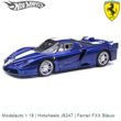 Modelauto 1:18 | Hotwheels J8247 | Ferrari FXX Blauw
