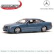 Modelauto 1:43 | Minichamps 430038026 | Mercedes Benz CL Coupe Blauw metallic 1999