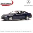 Modelauto 1:43 | Minichamps 400031420 | Mercedes Benz CLK Coupe Blauw metallic 2002