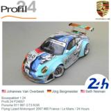 Bouwpakket 1:24 | Profil 24 P24057 | Porsche 911 997 GT3 RSR | Flying Lizard Motorsport 2007 #80 France / Le Mans / 24 Hours