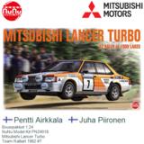 Bouwpakket 1:24   NuNu Model Kit PN24018   Mitsubishi Lancer Turbo   Team Ralliart 1982 #7