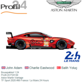 Bouwpakket 1:24   Profil 24 P24130   Aston Martin Vantage   TF Sport 2020 #90 France / Le Mans 24 Hours