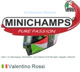 Helm 1:8   Minichamps 399180086   AGV Helmet 2018 #46 italië / Mugello / MotoGP