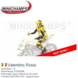 Motorfiets 1:12 | Minichamps 312050096 | Motorrijder Figuur Zittend op de motor | Yamaha 2005 #46 USA / Laguna Seca