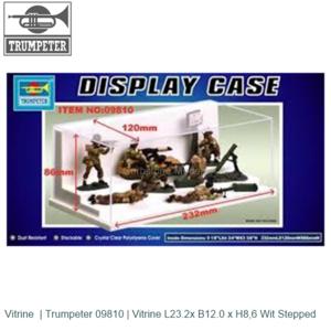 Vitrine  | Trumpeter 09810 | Vitrine L23.2x B12.0 x H8,6 Wit Stepped