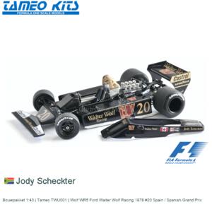 Bouwpakket 1:43 | Tameo TWU001 | Wolf WR5 Ford Walter Wolf Racing 1978 #20 Spain / Spanish Grand Prix