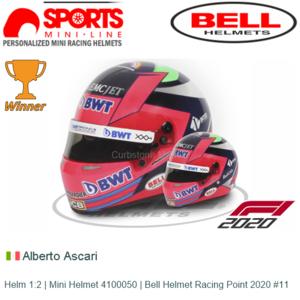 Helm 1:2 | Mini Helmet 4100050 | Bell Helmet Racing Point 2020 #11