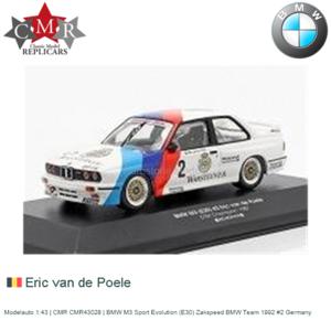 Modelauto 1:43 | CMR CMR43028 | BMW M3 Sport Evolution (E30) Zakspeed BMW Team 1992 #2 Germany