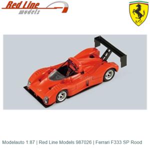 Modelauto 1:87   Red Line Models 987026   Ferrari F333 SP Rood