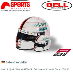 Helm 1:2 | Mini Helmet 4100011 | Bell Helemt Scuderia Ferrari 2019 #5