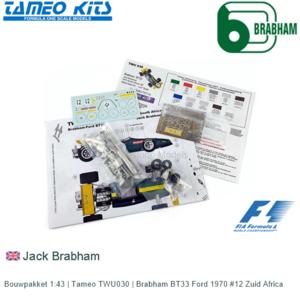 Bouwpakket 1:43 | Tameo TWU030 | Brabham BT33 Ford 1970 #12 Zuid Africa