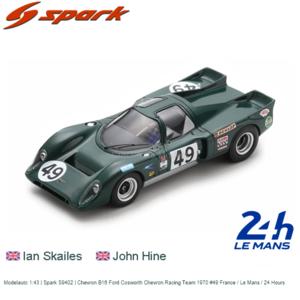 Modelauto 1:43 | Spark S9402 | Chevron B16 Ford Cosworth Chevron Racing Team 1970 #49 France / Le Mans / 24 Hours