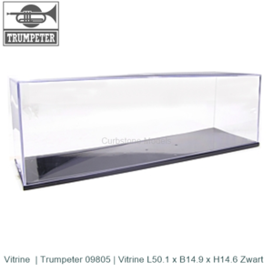 Vitrine  | Trumpeter 09805 | Vitrine L50.1 x B14.9 x H14.6 Zwart