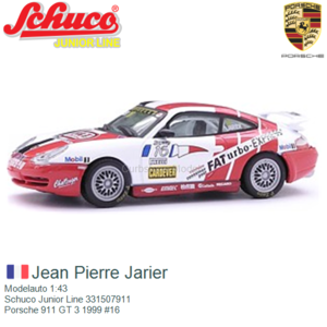 Modelauto 1:43 | Schuco Junior Line 331507911 | Porsche 911 GT 3 1999 #16