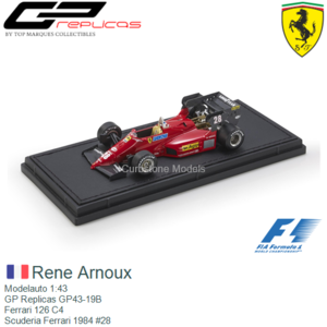 Modelauto 1:43 | GP Replicas GP43-19B | Ferrari 126 C4 | Scuderia Ferrari 1984 #28