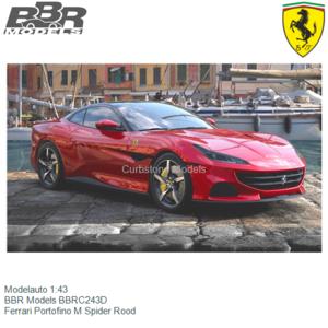 Modelauto 1:43 | BBR Models BBRC243D | Ferrari Portofino M Spider Rood