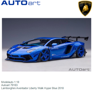 Modelauto 1:18 | Autoart 79183 | Lamborghini Aventador Liberty Walk Hyper Blue 2018