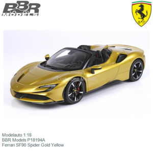 Modelauto 1:18 | BBR Models P18194A | Ferrari SF90 Spider Gold Yellow