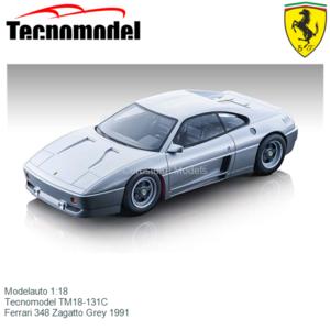 Modelauto 1:18 | Tecnomodel TM18-131C | Ferrari 348 Zagatto Grey 1991