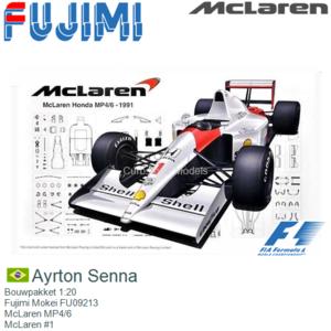 Bouwpakket 1:20   Fujimi Mokei FU09213   McLaren MP4/6   McLaren #1