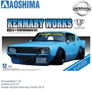 Bouwpakket 1:24 | Aoshima 01147 | Nissan Skyline Kenmary Works 2014