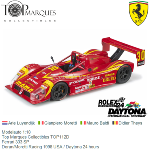 Modelauto 1:18 | Top Marques Collectibles TOP112D | Ferrari 333 SP | Doran/Moretti Racing 1998 USA / Daytona 24 hours