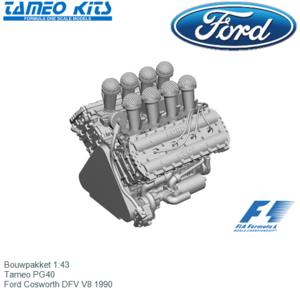 Bouwpakket 1:43   Tameo PG40   Ford Cosworth DFV V8 1990