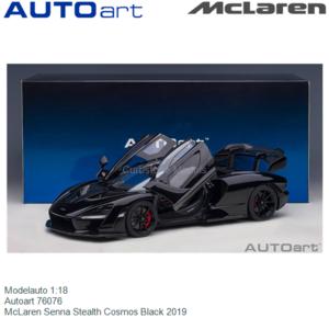 Modelauto 1:18 | Autoart 76076 | McLaren Senna Stealth Cosmos Black 2019