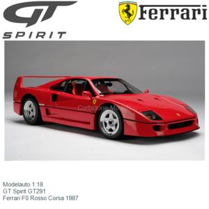 Modelauto 1:18   GT Spirit GT291   Ferrari F0 Rosso Corsa 1987