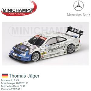 Modelauto 1:43 | Minichamps 400023111 | Mercedes Benz CLK | Persson 2002 #11