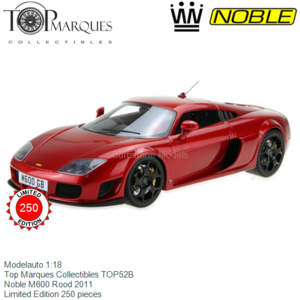 Modelauto 1:18 | Top Marques Collectibles TOP52B | Noble M600 Rood 2011