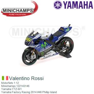 Motorfiets 1:12   Minichamps 122143146   Yamaha YTZ-M1   Yamaha Factory Racing 2014 #46 Phillip Island