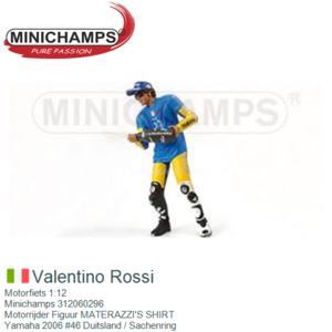 Motorfiets 1:12 | Minichamps 312060296 | Motorrijder Figuur MATERAZZI'S SHIRT | Yamaha 2006 #46 Duitsland / Sachenring