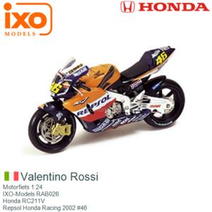 Motorfiets 1:24   IXO-Models RAB026   Honda RC211V   Repsol Honda Racing 2002 #46